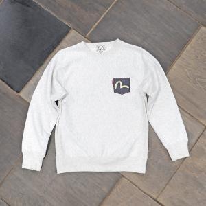 EVISUエヴィス SWEAT SHIRT PATCH1ポケット OATMEAL/EVISUジーンズ|evisu