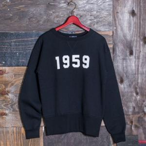 EVISUエヴィス ESPERTOC SWEAT CREW NECK 1959/BLACK/EVISUジーンズ|evisu