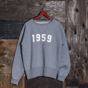 EVISUエヴィス ESPERTOC SWEAT CREW NECK 1959/GRAY/EVISUジーンズ|evisu