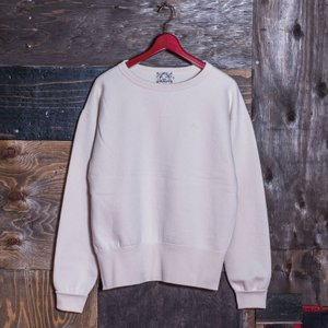 EVISUエヴィス《ESPERTO C》 SWEAT CREW-NECK ワンポイント刺繍/NATURAL/EVISUジーンズ|evisu