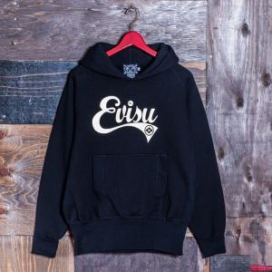 EVISUエヴィス《ESPERTO F》 SWEAT FOODIE EVISUプリント/BLACK/EVISUジーンズ|evisu