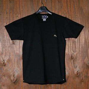 EVISUエヴィス 半袖Tシャツ/1ポイントカモメ/ブラック/半袖/EVISUジーンズ|evisu