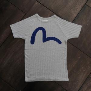 EVISUエヴィス 半袖Tシャツ /CRAZY-RIB/グレイ/EVISUジーンズ|evisu