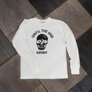 EVISUエヴィスSKULL プリント長袖Tシャツ/ホワイト/Tシャツ/スカル/EVISUジーンズ|evisu