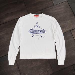 EVISUエヴィス長袖Tシャツ/SPACE-ART/WHT/長袖/ホワイト/Tシャツ/EVISUジーンズ|evisu