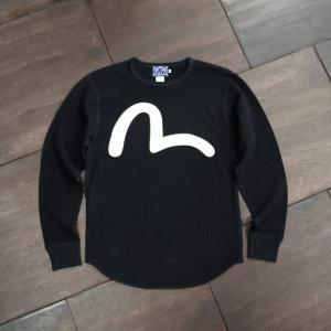EVISUエヴィス WAFFLE T-SHIRT HEAVY WEIGHT BLACK/EVISUジーンズ|evisu