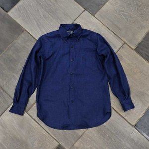 EVUSUエヴィス NEW YORK SHIRT INDIGO LINEN/EVISUジーンズ|evisu