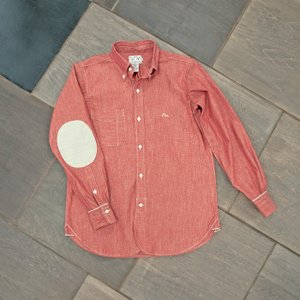 EVUSUエヴィスNEW YORK SHIRT SLUB CHAMBRAY/RED/EVISUジーンズ|evisu