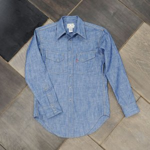EVUSUエヴィス WOODY WESTERN SHIRT CHAMBRAY/EVISUジーンズ|evisu