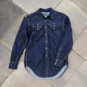 【ワンウォッシュ】EVUSUエヴィス STINKY HIDDEN-POCKET WESTERN SHIRT DENIM/EVISUジーンズ|evisu