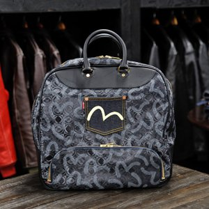 EVISUエヴィス BOBBY BOSTON BAG/SMT BLACK/EVISUジーンズ|evisu
