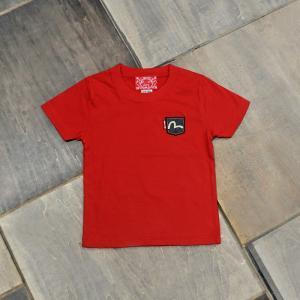 EVISUエヴィス KIDS TEE SHORT SLEEVE 1POCKET PATCH/RED/EVISUジーンズ|evisu