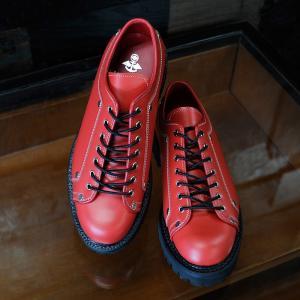 EVISUエヴィス YK2003 MONKEY BOOTS/LOWCUT/RED/レッド/ブーツ/ローカット/メンズ/ワークブーツ|evisu