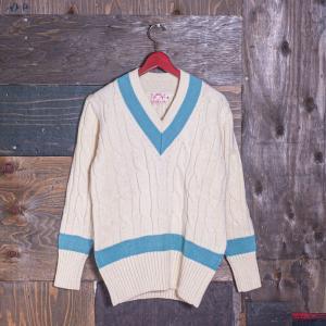 EVISUエヴィス CRICKET SWEATER SAX/クリケットセーター/EVISUジーンズ|evisu