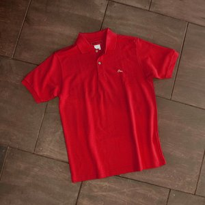 EVISUエヴィス POLO SHIRT/レッド/カモメワンポイント/ポロシャツ/Tシャツ/EVISUジーンズ|evisu