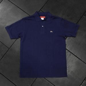 EVISUエヴィス POLO SHIRT H.W/ネイビー/カモメワンポイント/ポロシャツ/Tシャツ/EVISUジーンズ|evisu