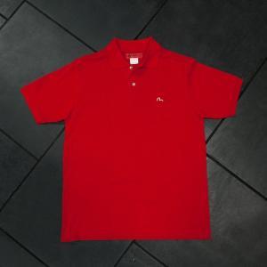 EVISUエヴィス POLO SHIRT H.W/レッド/カモメワンポイント/ポロシャツ/Tシャツ/EVISUジーンズ|evisu