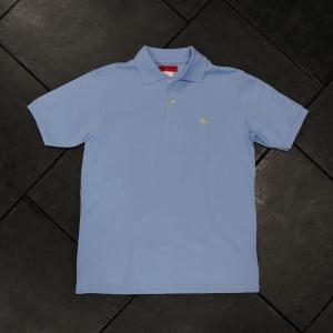 EVISUエヴィス POLO SHIRT H.W/サックス/カモメワンポイント/ポロシャツ/Tシャツ/EVISUジーンズ|evisu