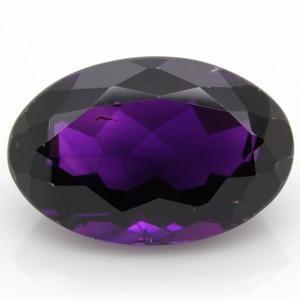 ブラジル産 天然アメジスト(紫水晶) オーバルカット ルース 16.81ct 《ov_350size》|evj-cc