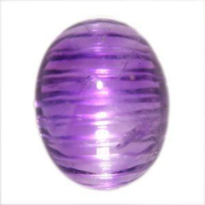珍品♪疑似キャッツアイ☆天然アメジスト(紫水晶) カボッション ルース 2.00ct 《ov_150size》|evj-cc