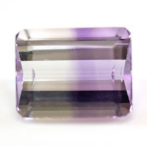 ブラジル産 天然バイカラーアメジスト(紫水晶) ステップカット ルース 2.40ct|evj-cc