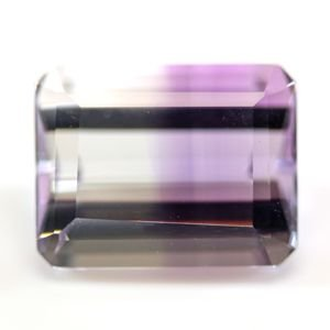ブラジル産 天然バイカラーアメジスト(紫水晶) ステップカット ルース 2.53ct|evj-cc