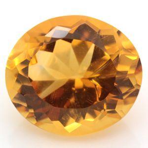 ブラジル産 天然シトリン(黄水晶) オーバルカット ルース 2.46ct 《ov_170size》|evj-cc