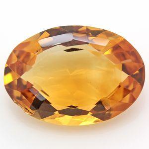 ブラジル産 天然シトリン(黄水晶) オーバルカット ルース 7.28ct 《ov_290size》|evj-cc