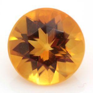 ブラジル産 天然シトリン(黄水晶) ラウンドカット ルース 2.45ct|evj-cc