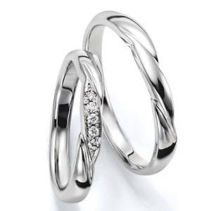 ペアリング(2本セット) 結婚指輪 マリッジリング 結婚記念 K18ホワイトゴールド 《Wish M0030》 ダイヤモンドリング ギフト 日本製|evj-cc