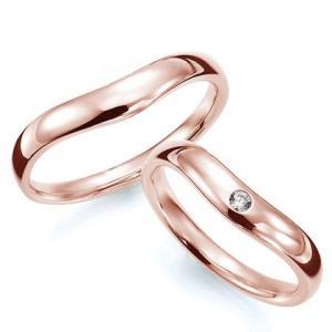 ペアリング(2本セット) 結婚指輪 マリッジリング 結婚記念 K18ピンクゴールド 《Prime M0033》 ダイヤモンドリング ギフト 日本製|evj-cc