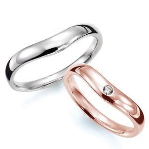 ペアリング(2本セット) 結婚指輪 マリッジリング 結婚記念 K18ピンクゴールド&K18ホワイトゴールド 《Prime M0033》 ダイヤモンドリング ギフト 日本製|evj-cc