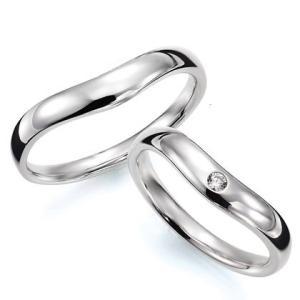 ペアリング(2本セット) 結婚指輪 マリッジリング 結婚記念 K18ホワイトゴールド 《Prime M0033》 ダイヤモンドリング ギフト 日本製|evj-cc
