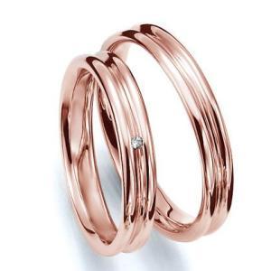 ペアリング(2本セット) 結婚指輪 マリッジリング 結婚記念 K18ピンクゴールド 《Prime M0035》 ダイヤモンドリング ギフト 日本製|evj-cc