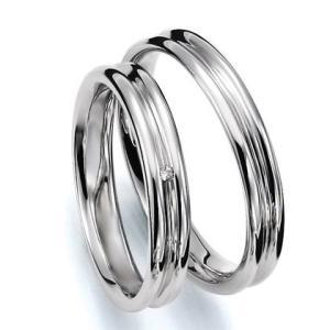 ペアリング(2本セット) 結婚指輪 マリッジリング 結婚記念 K18ホワイトゴールド 《Prime M0035》 ダイヤモンドリング ギフト 日本製|evj-cc