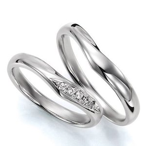 ペアリング(2本セット) 結婚指輪 マリッジリング 結婚記念 プラチナ900 《Wish M0036》 ダイヤモンドリング ギフト 日本製 evj-cc