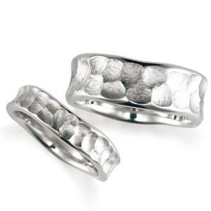 ペアリング(2本セット) 結婚指輪 マリッジリング 結婚記念 K18ホワイトゴールド 《Nourish M0089》 日本製|evj-cc