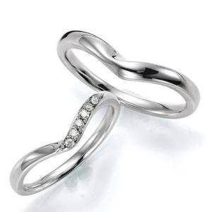 ペアリング(2本セット) 結婚指輪 マリッジリング 結婚記念 プラチナ900 《Wish M0240》 ダイヤモンドリング ギフト 日本製|evj-cc