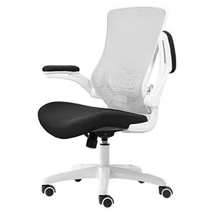 Hbada 椅子 オフィスチェア デスクチェア イス 跳ね上げ式アームレスト ランバーサポート コン...