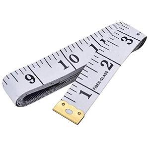 両面体測定定規縫製布テーラーテープ測定胸部/ウエスト周囲のソフトテープ、60インチ/ 150 cmホ...