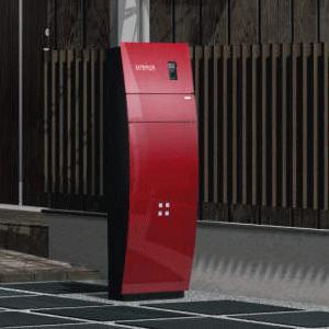 機能門柱 三協立山 三協アルミ 機能ポール ステイムAJタイプ ■AK色(座面なし)赤&ブラック色/受注生産 納期:約20日|ex-ekutem