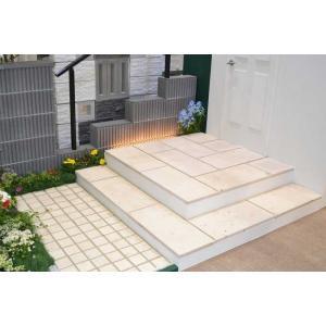 タイル 舗装材 天然石 ピースタイル ラザリ― お庭や花壇テラス、玄関周り 簡単施工 初心者 1枚1セット |ex-niwaya|02