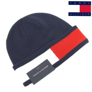 a5cd611bd9213c トミーヒルフィガー ニット帽 ニットキャップ TOMMY HILFIGER メンズ レディース ニット ロゴライン H8H83264 411 ネイビー