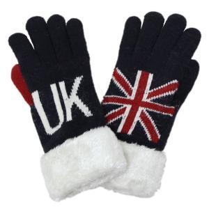 手袋 メンズ レディース UK裏モール イギリス国旗柄 ユニオンジャック