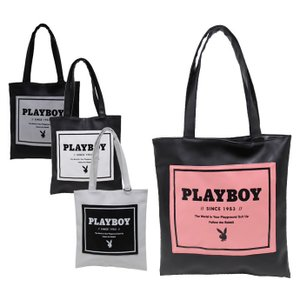 Playboy Bunny プレイボーイ トートバッグ バッグ 【Faux Leather 2-in-1 Ladies Bag】 Grey レディース