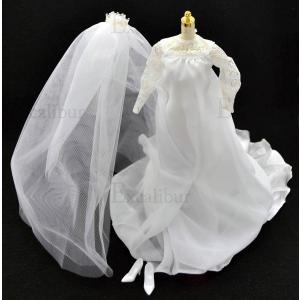 バービーのお洋服のみ★バービー エルビス&プリシラ ウェディングドレスセット Elvis and Priscilla Wedding Dress Outfit|excalibur