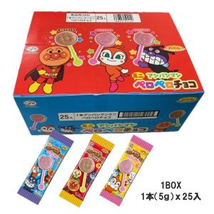 不二家 1本アンパンマンミニペロペロチョコx25本入BOX|excel-fukuoka