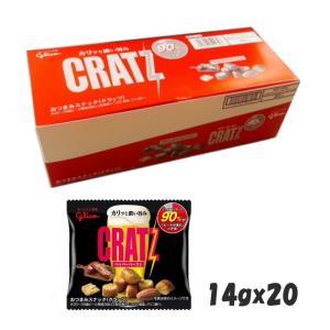 江崎グリコ  クラッツ ミニタイプ  ペッパーベーコン  14g×20個|excel-fukuoka