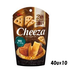 おつまみスナック 江崎グリコ 生チーズのチーザ 燻製チーズ味40g ×10個