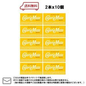 メール便・送料無料 大塚製薬 カロリーメイト ブロック プレーン 2本×10個|excel-fukuoka